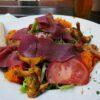 Wildschweinschinken auf Salat (Gasthaus stilles Tal bei Elmstein)